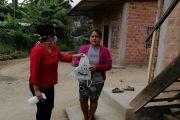 ENTREGA DE KIT DE BIOSEGURIDAD EN LA PARROQUIA CRUCITA